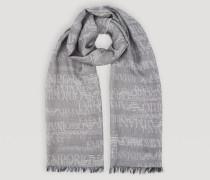 Schal aus Gemischter Schurwolle mit Logo-jacquardmuster