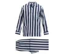 Royal Striped Cotton Pyjamas