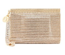 Melissa Crystal-embellished Wristlet Clutch Bag