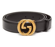 Gg Grained-leather Belt