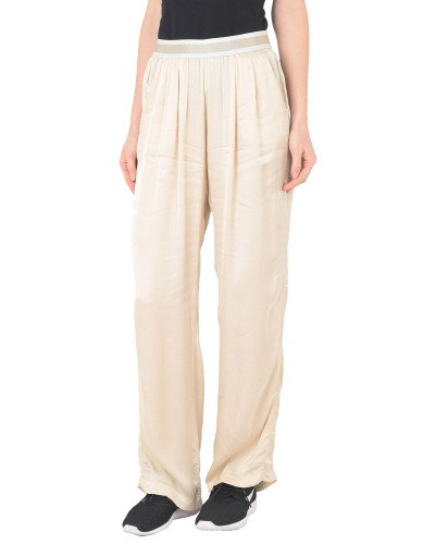 SATEEN WIDE LEG PANT Hose