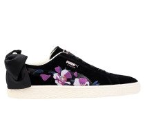 Suede Bow Flowery Wn's Low Sneakers