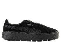 Suede Platform Trace Animal Low Sneakers