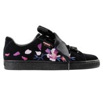 Suede Heart Flowery Wn's Low Sneakers