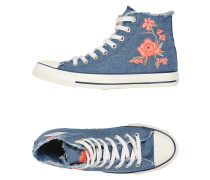 CTAS HI DENIM FRAYED FLOWER High Sneakers