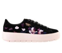 Suede Platform Trace Flowery Low Sneakers