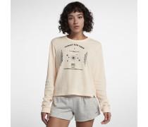 Hurley Sun Crew Waffle Langarm-T-Shirt für Damen