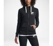 Sportswear Gym Vintage Damen-Hoodie mit durchgehendem Reißverschluss