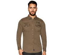 Langarm Hemd Custom Fit khaki