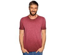 Kurzarm T-Shirt bordeaux meliert