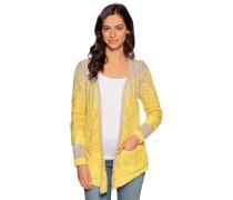 Strickjacke beige/gelb