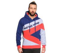 Sweatshirt navy/grau/rot