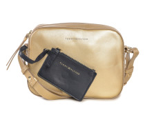 Ledertasche gold