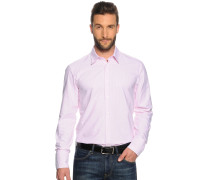 Business Hemd Slim Fit rosa/weiß gestreift