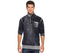 Pullover, blau/grau