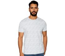 Kurzarm T-Shirt weiß/hellblau