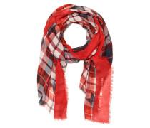 Schal rot/mehrfarbig
