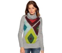 Pullover grau/mehrfarbig