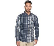 Langarm Hemd Regular Fit blau/weiß/schwarz