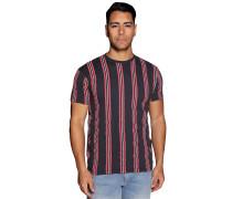 Kurzarm T-Shirt navy/rot/weiß