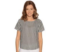 Kurzarm Blusenshirt schwarz/weiß