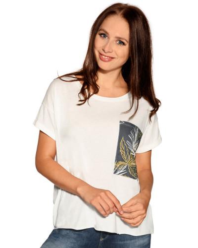 Kurzarm T-Shirt offwhite