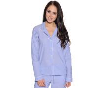 Pyjamaoberteil hellblau