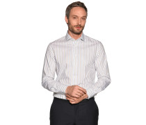 Business Hemd Custom Fit weiß/grau/grün