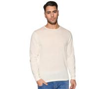 Pullover mit Leinen weiß