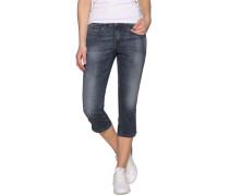 Jeans Caprihose blau