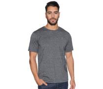 Kurzarm T-Shirt schwarz meliert
