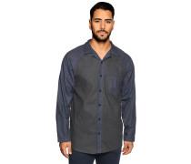 Pyjamaoberteil blau/grau meliert