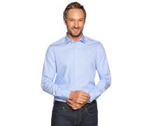 Business Hemd Custom Fit hellblau/weiß