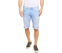 Jeansbermuda hellblau