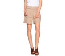 Shorts aus Leinen beige/weiß