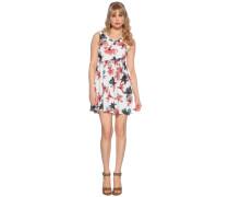 Kleid weiß/mehrfarbig