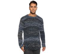Pullover marine meliert