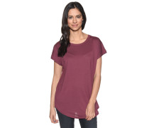 Kurzarm T-Shirt bordeaux