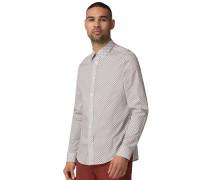 Langarm Hemd Regular Fit weiß/blau/gelb