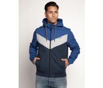 Jacke blau/grau/navy