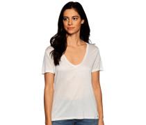 Kurzarm T-Shirt weiß/silber