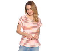 Kurzarm T-Shirt weiß/rot gstreift