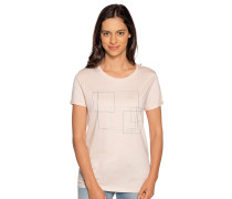 Kurzarm T-Shirt apricot