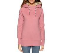 Kapuzensweatshirt rosa meliert