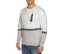 Sweatshirt hellblau/grau