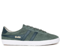 Sneaker, graugrün/navy