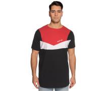 Kurzarm T-Shirt rot/schwarz
