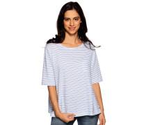 Kurzarm T-Shirt weiß/blau