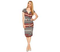 Kleid schwarz/weiß/rot