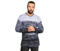 Pullover schwarz/weiß meliert